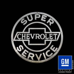 chevrolet super service sign