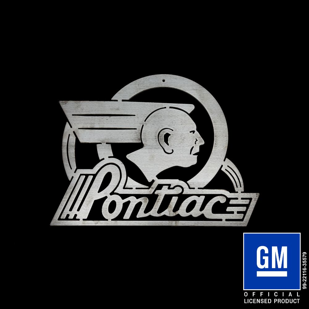 Chrysler Plymouth Logo >> Pontiac Indian Sign - Speedcult Officially Licensed