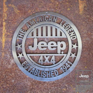 jeep american legend sign