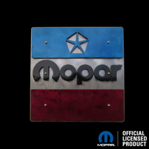 mopar 1972-84 logo powder coated