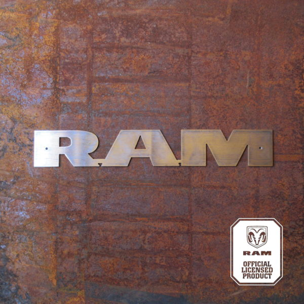 ram text 26 inch long sign
