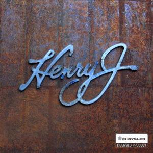 henry j script metal cut logo